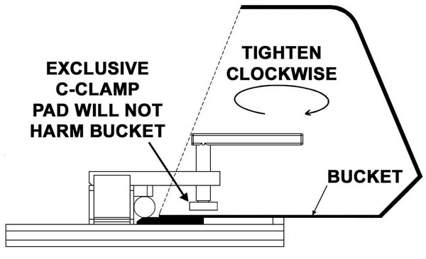bucket clamp on