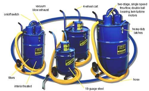 Industrial Vacuum Blower Systems : Industrial vacuum shop vac large heavy duty