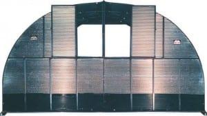 Steel Shelter rear vent