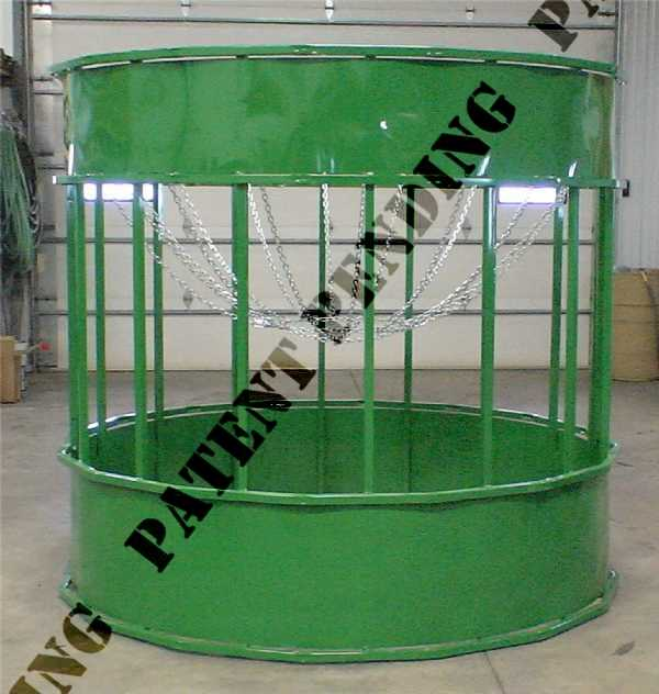Round bale feeder for horses | suspended hay feeder | barn ...