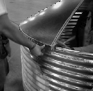 Metal Grain Bins
