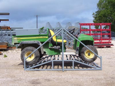 cattle guard for atv crossings