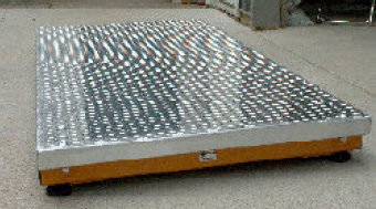 Optional Heavy Duty Aluminum Platform to complete the scale system if needed.