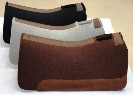 western saddle pads made from wool