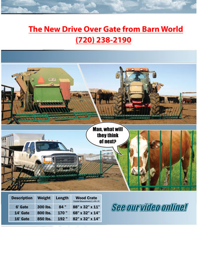drive over gate brochure