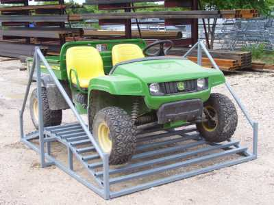 front view of an atv on a cattle guard