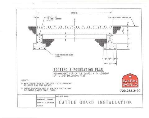 foundation diagram for grid installation