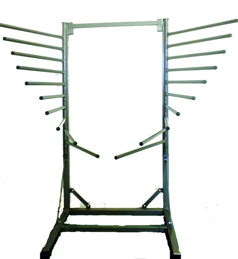saddle pad rack with 20 arms