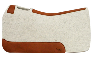 barrel racing saddle pad with brown leather