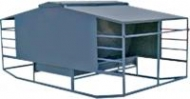 calf creep feeder with two troughs