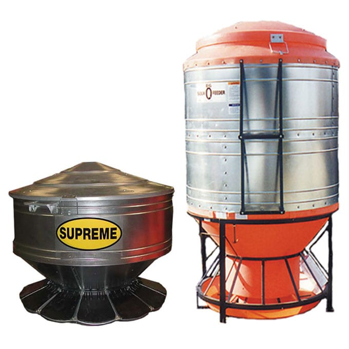 Sioux Steel outdoor hog feeders