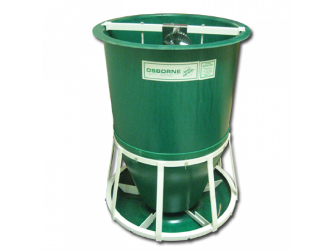 pig feeder with on demand trough paddles