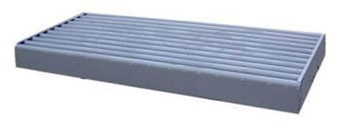 boxed cattle guard in gray paint