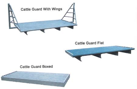 cattle guards with wings and boxed