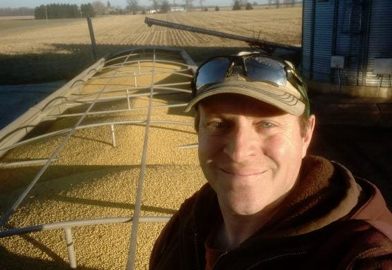 Soybean farmer in Indiana.