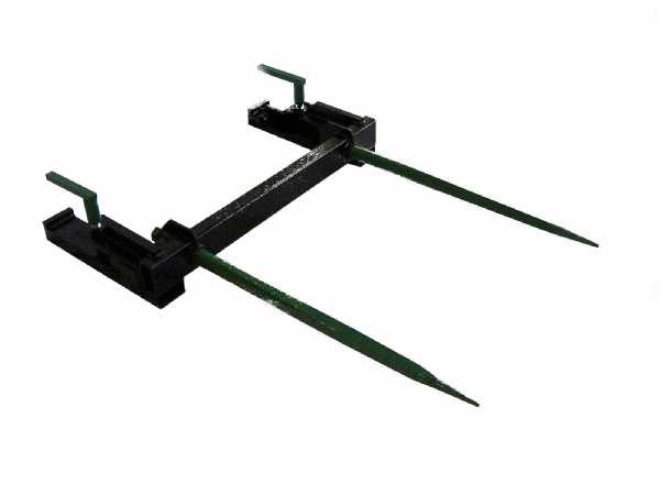 square bale spear bucket attachment
