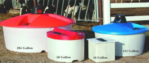lick tank mineral feeders for cattle