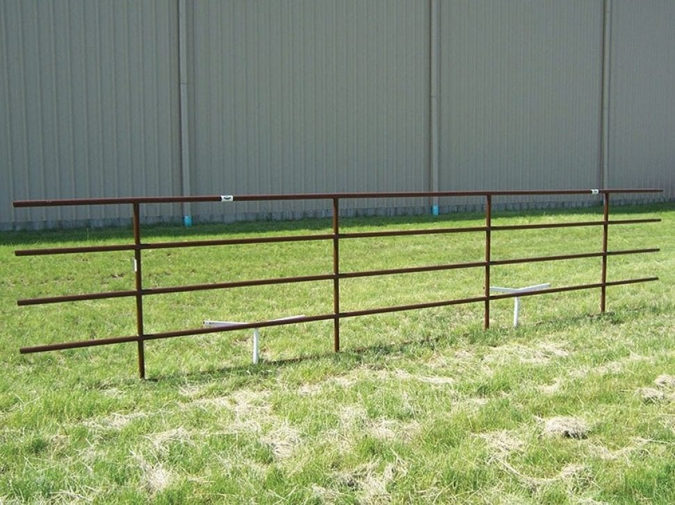 pipe fence panel