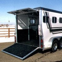 horse trailer mat installed in a trailer