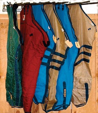 horizontal saddle pad rack