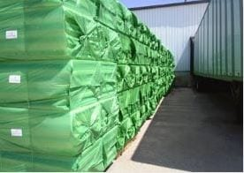 insulated floor panels in bags ready to ship