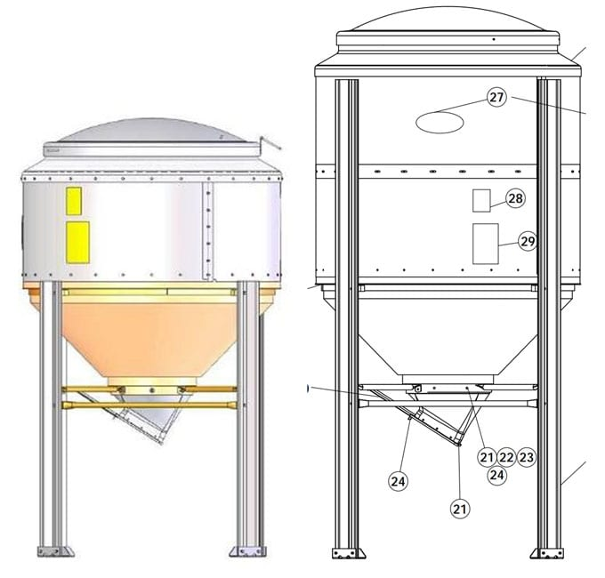 mini grain bins